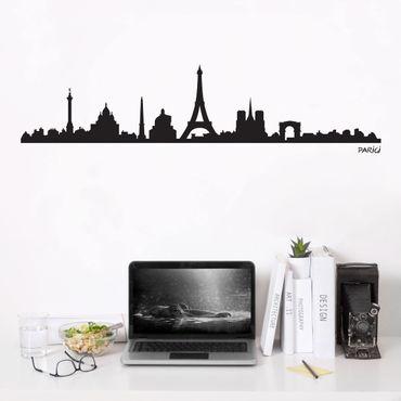 Adesivo murale Skyline Parigi