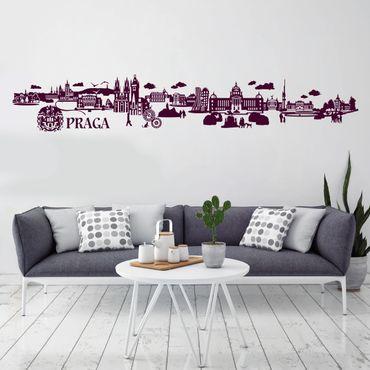 Adesivo murale Skyline Praga