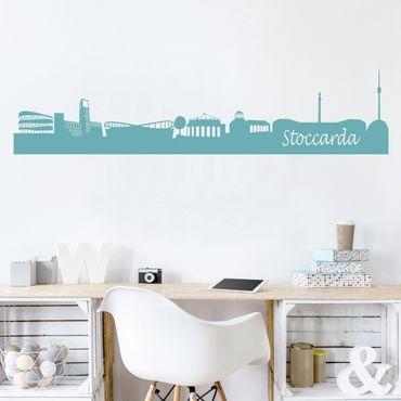Adesivo murale Skyline Stoccarda
