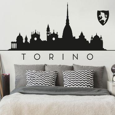 Adesivo murale Skyline Torino