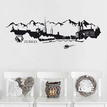 Adesivo murale Skyline Zurigo