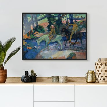Poster con cornice - Paul Gauguin - The Escape - Orizzontale 3:4