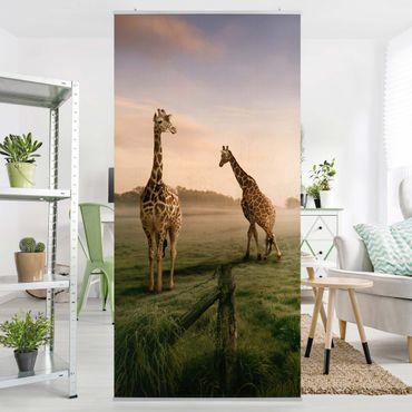 Tenda a pannello Surreal Giraffes 250x120cm