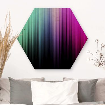 Esagono in legno - Display Arcobaleno