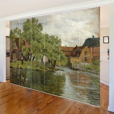 Tende scorrevoli set - Edvard Munch - Scene On River Akerselven