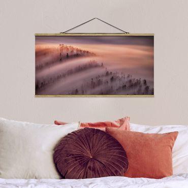 Foto su tessuto da parete con bastone - Nebbia Flood - Orizzontale 1:2