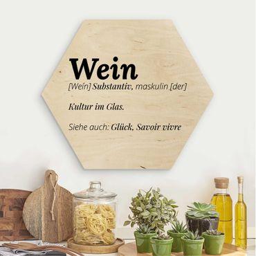 Esagono in legno - La definizione di vino
