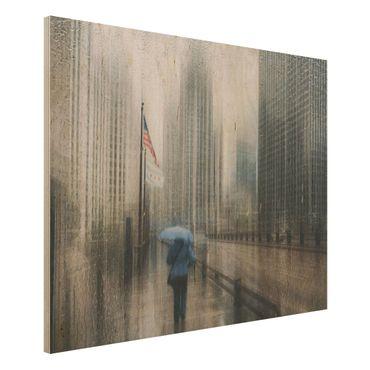 Quadro in legno - Rainy Chicago - Orizzontale 4:3
