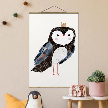 Foto su tessuto da parete con bastone - Vincere Owl scuro - Verticale 3:2