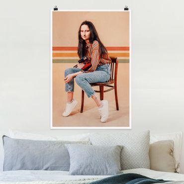 Poster - Retro Mona Lisa - Verticale 3:2