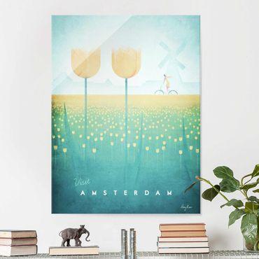 Quadro in vetro - Poster viaggio - Amsterdam - Verticale 4:3