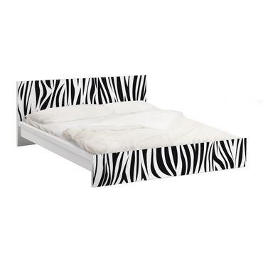 Carta adesiva per mobili IKEA - Malm Letto basso 180x200cm Zebra Pattern