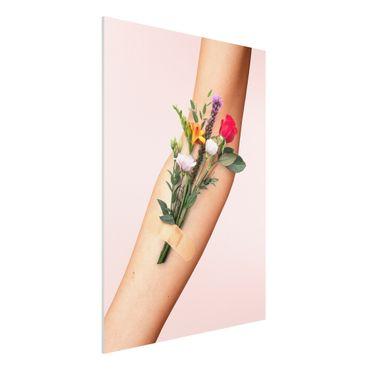 Stampa su Forex - Braccio con i fiori - Verticale 4:3
