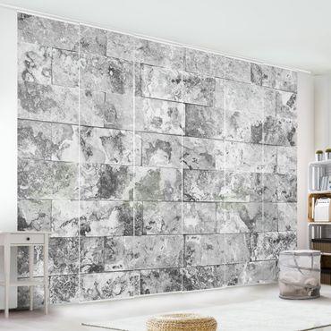 Tende scorrevoli set - Stone Wall Natural Marble Grey