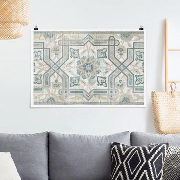 Poster - Comitato di legno persiana Vintage III - Orizzontale 2:3