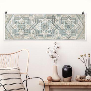 Poster - Comitato di legno persiana Vintage III - Panorama formato orizzontale