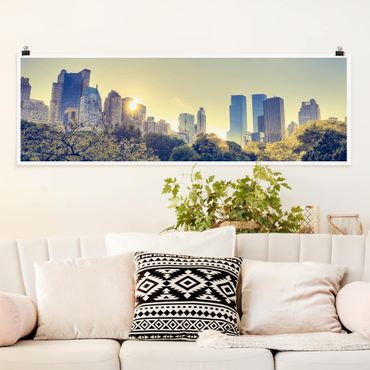 Poster - Peaceful Central Park - Panorama formato orizzontale