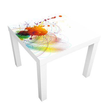 Carta adesiva per mobili IKEA - Lack Tavolino Rainbow Background