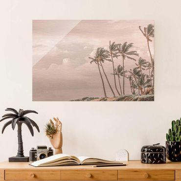 Quadro in vetro - Aloha spiaggia alle Hawaii II
