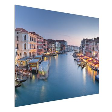 Quadro in alluminio - Evening on Grand Canal in Venice