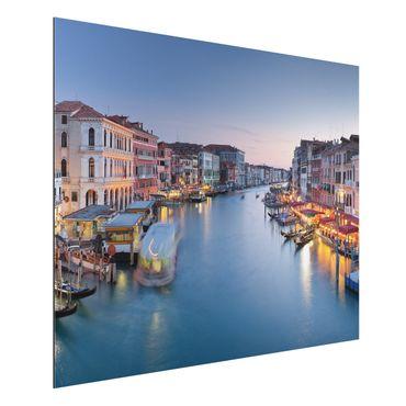 Quadro in alluminio - Evening on Grand Canal in Venice