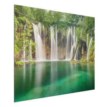 Quadro in alluminio - Waterfall Plitvice Lakes