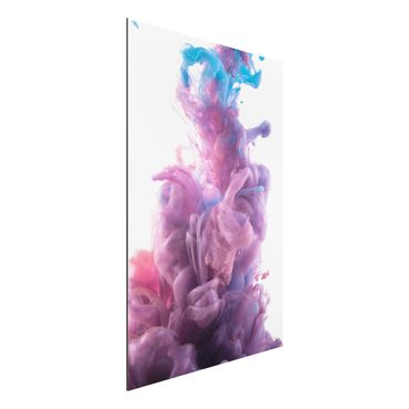 Quadro in alluminio - Abstract flowing color effect