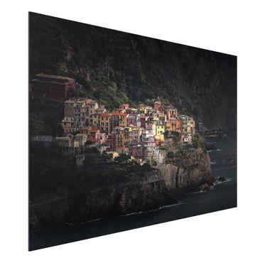 Quadro in alluminio - Manarola illuminata