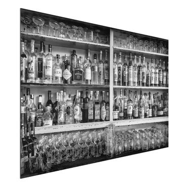 Quadro in alluminio - Bar Black White