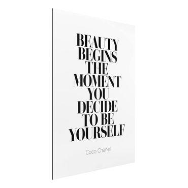 Quadro in alluminio - Be Yourself Coco Chanel