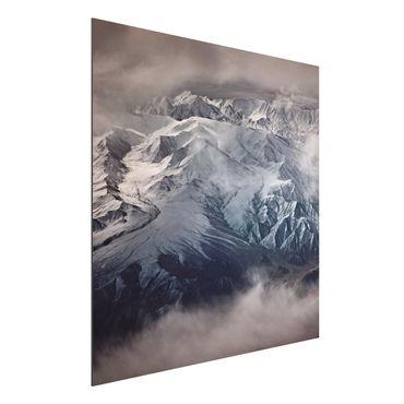 Quadro in alluminio - Montagne del Tibet