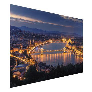 Quadro in alluminio - Vista di Budapest
