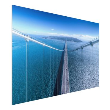 Quadro in alluminio - Bridge to the Islanda