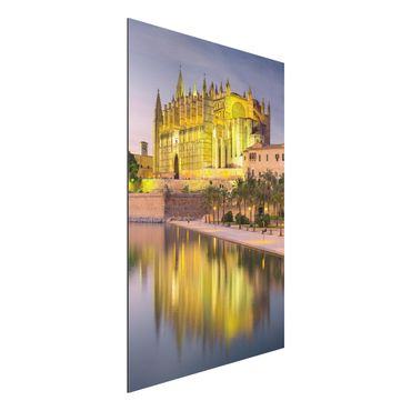 Quadro in alluminio - Catedral de Mallorca water reflection