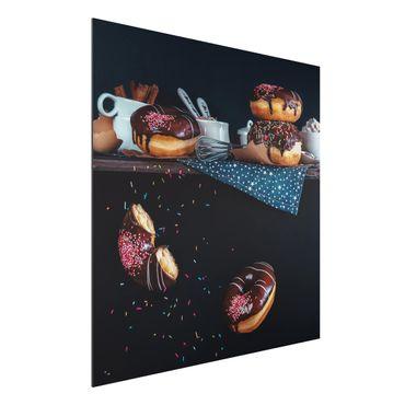 Quadro in alluminio - Donuts From The Kitchen Shelf