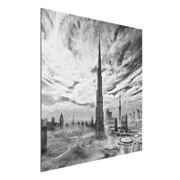 Quadro in alluminio - Dubai Super Skyline