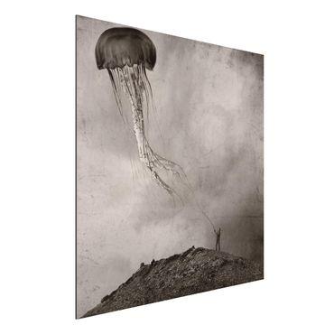 Quadro in alluminio - volante Medusa