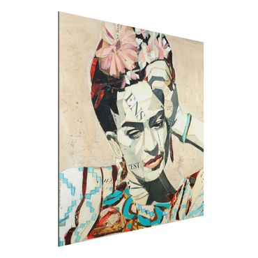 Quadro in alluminio - Frida Kahlo - Collage No.1