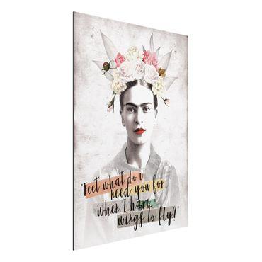Quadro in alluminio - Frida Kahlo - Quote