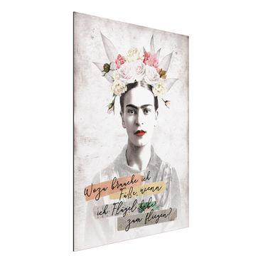 Quadro in alluminio - Frida Kahlo - Zitat