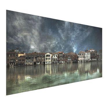 Quadro in alluminio - Reflections In Venice