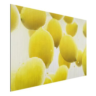 Quadro in alluminio - Lemons in Water