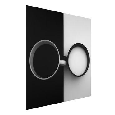 Quadro in alluminio - gli opposti
