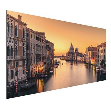 Quadro in alluminio - d'oro Venezia