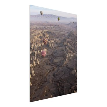Quadro in alluminio - Hot Air Balloons Over Anatolia