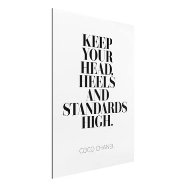 Quadro in alluminio - Keep Your Head High