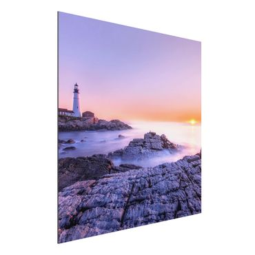 Quadro in alluminio - Lighthouse In The Morning