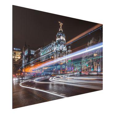 Quadro in alluminio - Il traffico di Madrid