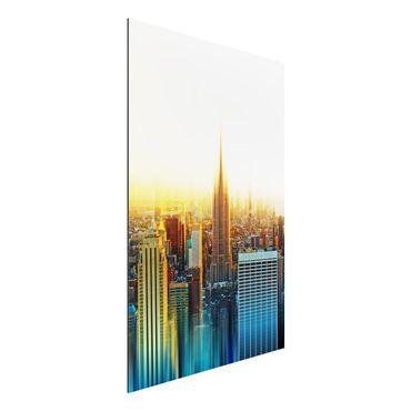 Quadro in alluminio - Manhattan Abstract