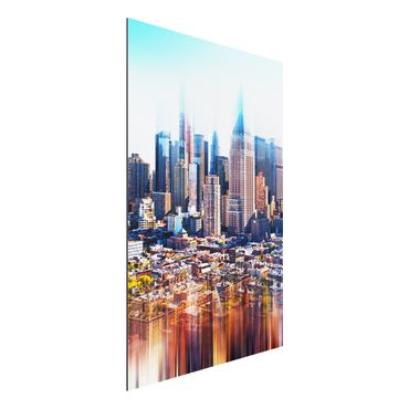 Quadro in alluminio - Manhattan Skyline Urban Stretch